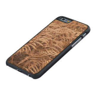 Old Dry Yellow Brown Fern - Foliage Photography Carved Maple iPhone 6 Slim Case
