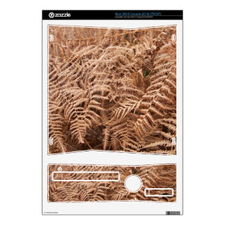 Old Dry Yellow Brown Fern - Foliage Photography Decals For Xbox 360 S