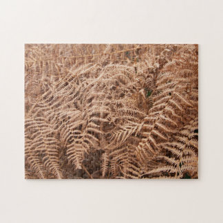 Old Dry Yellow Brown Fern - Foliage Photography Jigsaw Puzzle