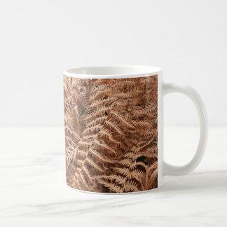 Old Dry Yellow Brown Fern - Foliage Photography Mug