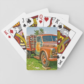 Old Dually - Truck - Rusty Playing Cards