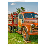 Old Dually - Truck - Rusty - Vintage Greeting Card