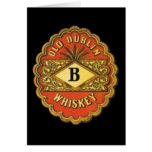 Old Dublin Whiskey Greeting Card
