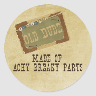 Old Dude Classic Round Sticker