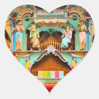 Old Dutch barrel organ Heart Sticker