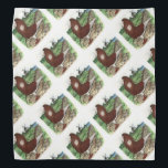 """Old Dutch Capuchine Pigeon Bandana<br><div class=""""desc"""">The Old Dutch Capuchine hails from Holland.  This pigeon is bred in several colors,  including white,  tigered and Jacobin marked.</div>"""
