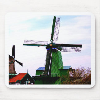 Old dutch historical power wind mill mouse pad