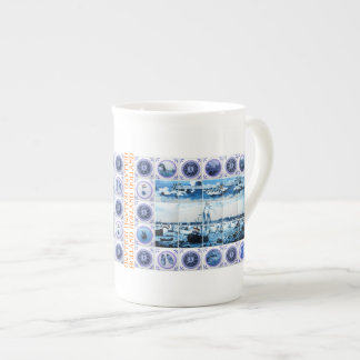 Old Dutch Maritime Holland Delftware Style Tea Cup