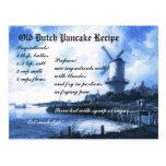 Old Dutch Pancake Recipe Card Postcard