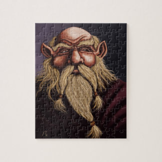 old dwarf fantasy puzzle