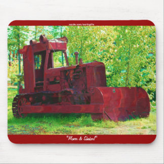 Old Earth-mover Heavy Equipment Art Mousepad