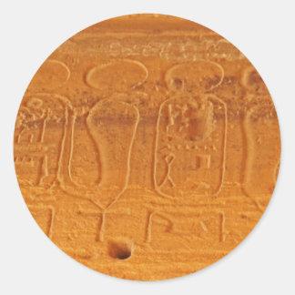 old egypt classic round sticker
