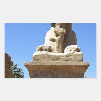 old egypt rectangular sticker
