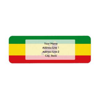 Old Ehtiopian flag Label