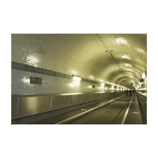 old Elbe tunnel Canvas Print