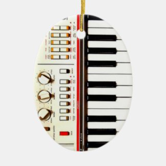 Old Electric Keyboard Ceramic Ornament