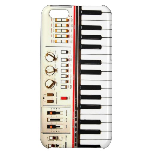 Old Electric Keyboard Cover For iPhone 5C