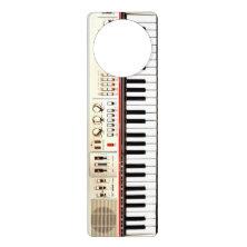 Old Electric Keyboard Door Knob Hangers