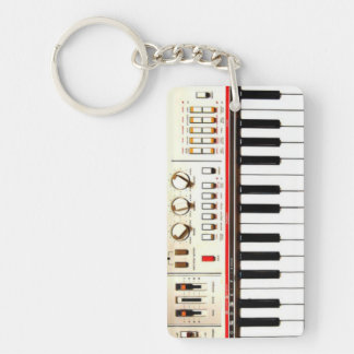 Old Electric Keyboard Keychain