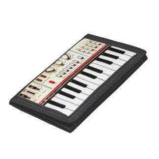Old Electric Keyboard Tri-fold Wallets