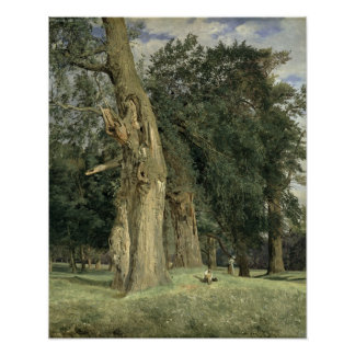 Old elms in Prater, 1831 Poster