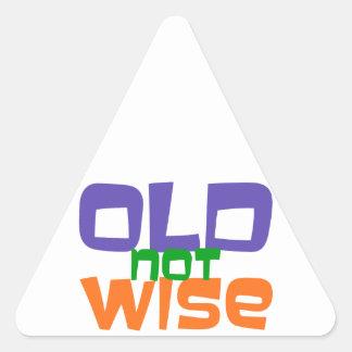 old emergency wise triangle sticker