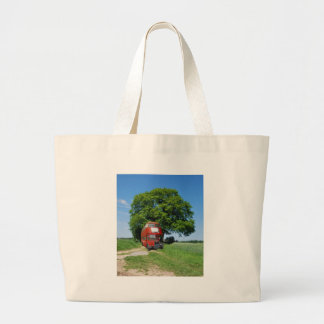 Old England bus Large Tote Bag