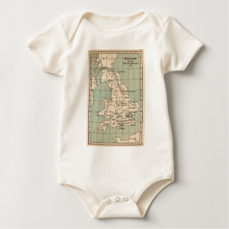Old England Map Baby Bodysuit