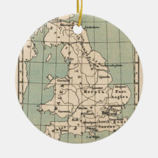 Old England Map Ceramic Ornament