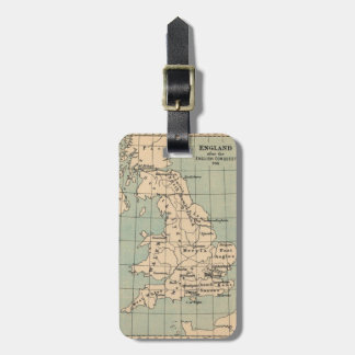 Old England Map Luggage Tag