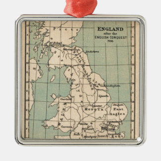 Old England Map Metal Ornament