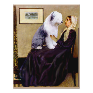 Old English 1 -  Whistlers Mother Poster