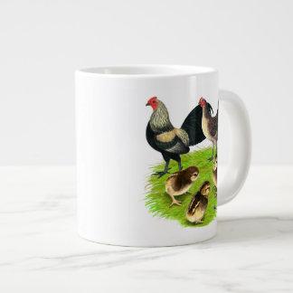 Old English Bantam Brassy Back Family Large Coffee Mug