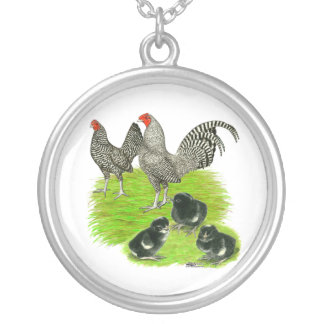 Old English Barred Bantam Family Personalized Necklace