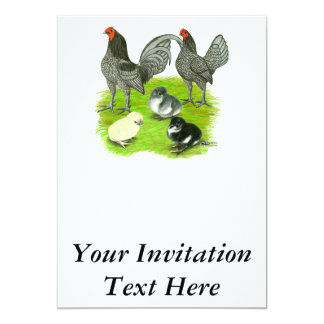 Old English Blue Game Family Card