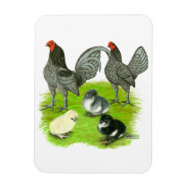 Old English Blue Game Family Magnet