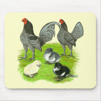 Old English Blue Game Family Mouse Pad