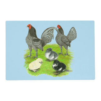 Old English Blue Game Family Placemat
