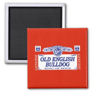 Old English Bulldog 2 Inch Square Magnet
