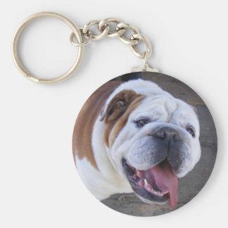 Old English Bulldog Basic Round Button Keychain