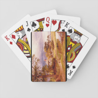 Old English Cottage', Benjamin Williams_Landscapes Playing Cards