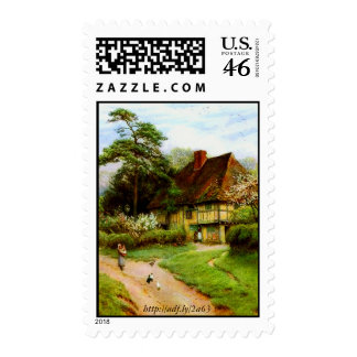 Old English Country Cottage U S Postage Stamps
