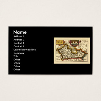 Old English County Map by John Speed, circa 1625 Business Card