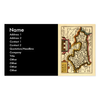 Old English County Map by John Speed, circa 1625 Double-Sided Standard Business Cards (Pack Of 100)