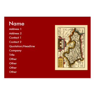 Old English County Map by John Speed, circa 1625 Large Business Cards (Pack Of 100)