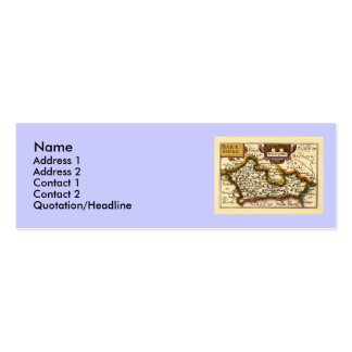 Old English County Map by John Speed, circa 1625 Double-Sided Mini Business Cards (Pack Of 20)