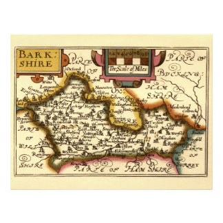 """Old English County Map by John Speed, circa 1625 8.5"""" X 11"""" Flyer"""