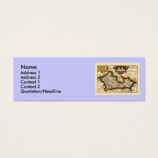 Old English County Map by John Speed, circa 1625 Mini Business Card