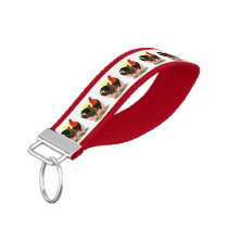 Old English Game Bantam:  BB Red Wrist Keychain