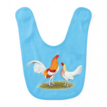 Old English Game Bantam:  Red Pyle Bib